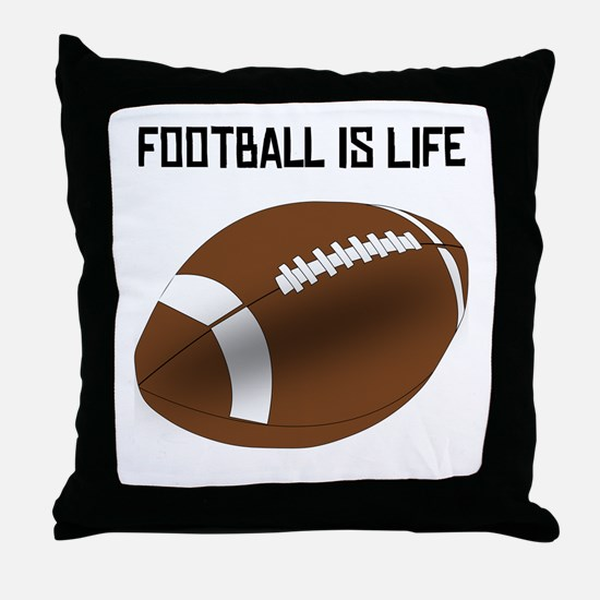 Football Is Life Throw Pillow