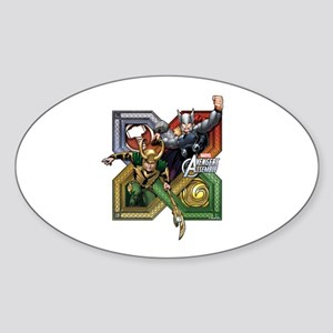 Thor VS Loki Sticker (Oval)