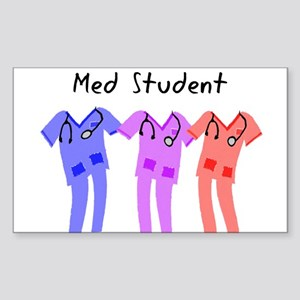 med student SCRUB Sticker