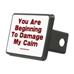 Damage My Calm Rectangular Hitch Cover