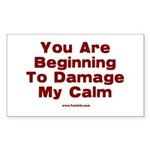 Damage My Calm Sticker (Rectangle 50 pk)