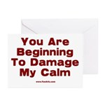 Damage My Calm Greeting Cards (Pk of 20)