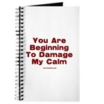 Damage My Calm Journal