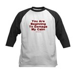 Damage My Calm Kids Baseball Jersey