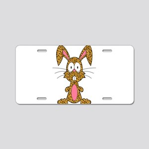 Silly Leopard Bunny Aluminum License Plate