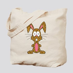 Silly Leopard Bunny Tote Bag