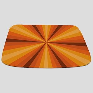 Orange Illusion Bathmat