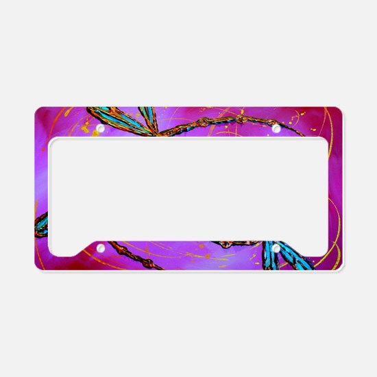 Dragonfly Flit Electric Pink License Plate Holder