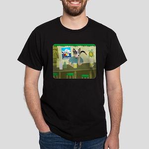 Australian Cattle Dog Tiki Bar Dark T-Shirt