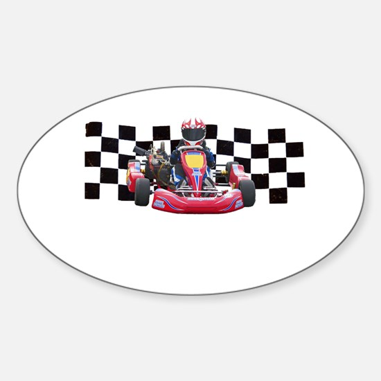 Kart Racer with Checkered Flag Decal