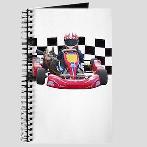 Kart Racer with Checkered Flag Journal