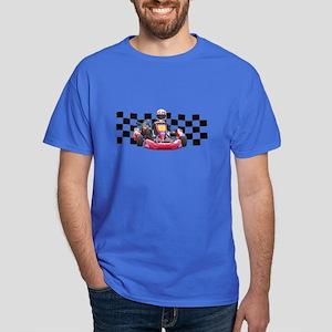 Kart Racer with Checkered Flag T-Shirt
