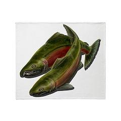 Save Our Salmon Throw Blanket