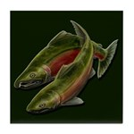 Save Our Salmon Tile Coaster