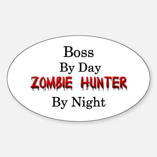 Boss/Zombie Hunter Sticker (Oval)