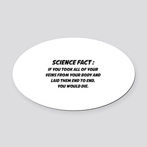 Science Fact Oval Car Magnet