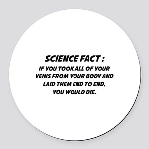 Science Fact Round Car Magnet