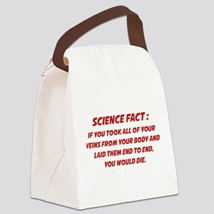 Science Fact Canvas Lunch Bag