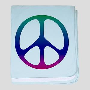 Pastel Peace baby blanket