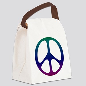 Pastel Rainbow Canvas Lunch Bag