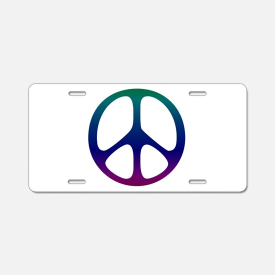 Pastel Rainbow Aluminum License Plate