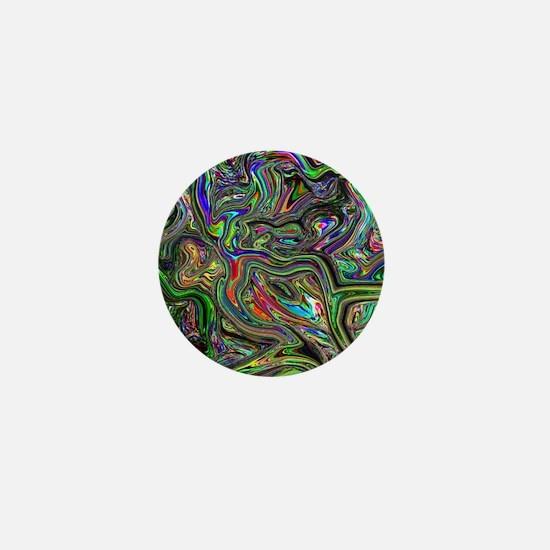 Psychedelic colors melt  Mini Button