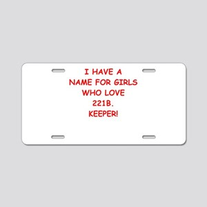 221b Aluminum License Plate