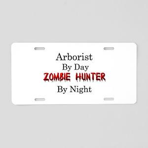 Arborist/Zombie Hunter Aluminum License Plate