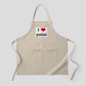 I Love putos BBQ Apron
