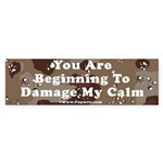 Damage My Calm Sticker (Bumper)