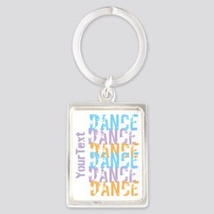 DANCE Optional Text Portrait Keychain