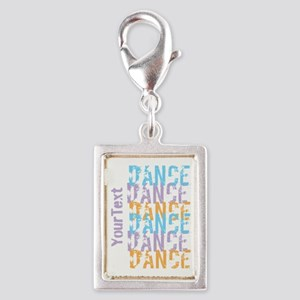 DANCE Optional Text Silver Portrait Charm