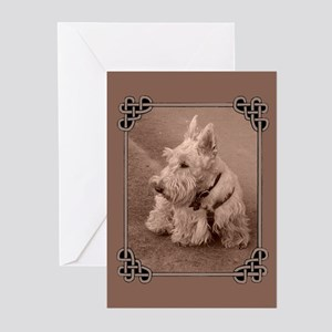 Wheaten Scottie Greeting Cards