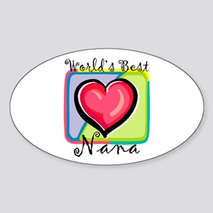 World's Best Nana Oval Sticker