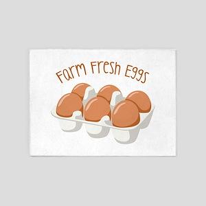 Farm Fresh Eggs 5'x7'Area Rug