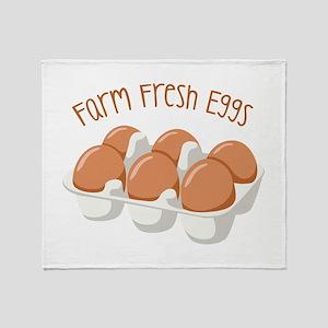 Farm Fresh Eggs Throw Blanket