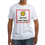 Old Fart Action Figure Fitted T-Shirt