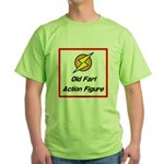 Old Fart Action Figure Green T-Shirt