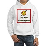 Old Fart Action Figure Hooded Sweatshirt
