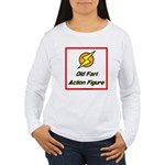 Old Fart Action Figure Women's Long Sleeve T-Shirt