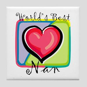 World's Best Nan Tile Coaster