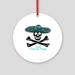 Viva! Cinco de Mayo! (CW) Ornament (Round)
