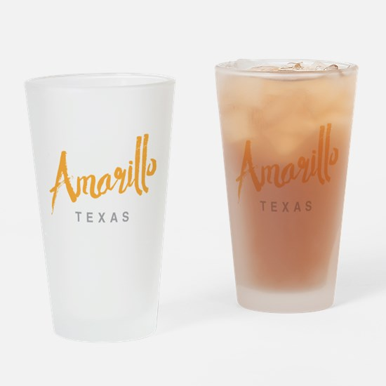 Amarillo Texas - Drinking Glass
