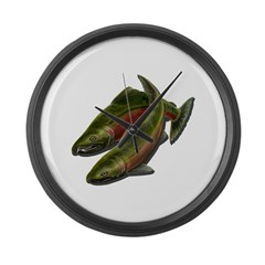 Save Our Salmon Large Wall Clock