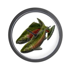 Save Our Salmon Wall Clock