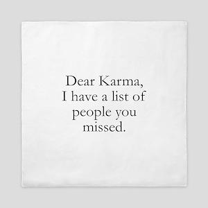 Dear Karma Queen Duvet