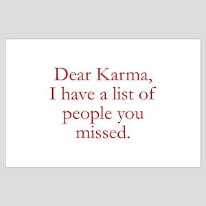 Dear Karma Large Poster