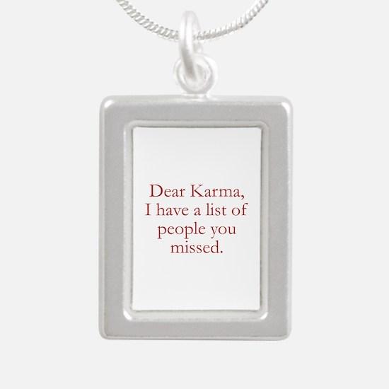 Dear Karma Silver Portrait Necklace