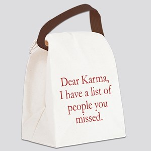 Dear Karma Canvas Lunch Bag
