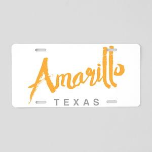 Amarillo Texas - Aluminum License Plate